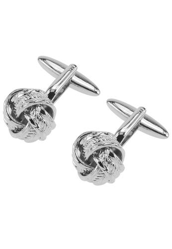 CUFF IT silver Silver Rope Knot Cufflinks CU047AC35YUEHK_1
