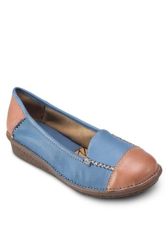 Fiona 雙色皮革平底鞋, 女鞋esprit outlet 家樂福, 鞋