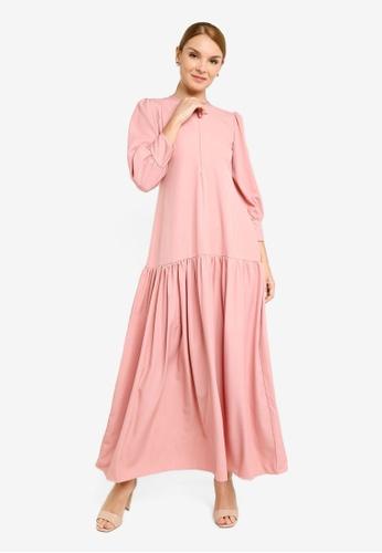 REALFANTASY pink Inaya Dress Dusty Pink 277A4AAF97780FGS_1