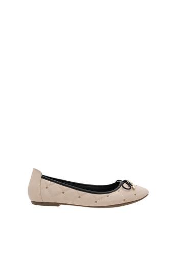 SEMBONIA beige Women Synthetic Leather Ballet Flat AFD55SH2D3ACBEGS_1