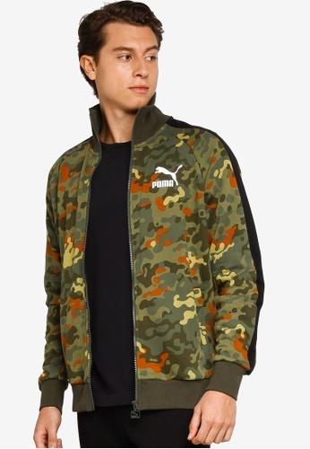 PUMA 綠色 經典Graphic 印花Men's Jacket B57E8AAC30F065GS_1