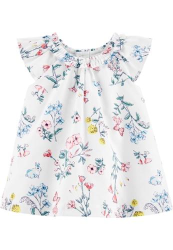 Carter's white CARTER'S Girl White Floral Print Dress 97E51KA666F1FCGS_1