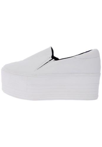 Maxstar C7 60 Synthetic Leather White Platform Slip on Sneakers US Women Size MA168SH88DLJHK_1