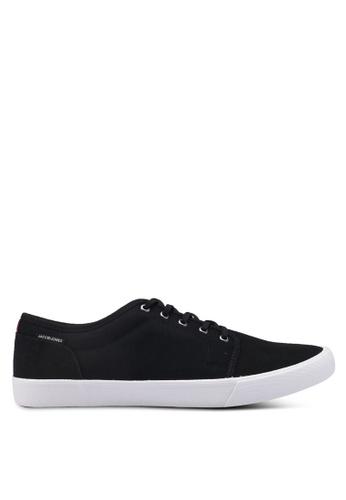 Jack & Jones grey Anthracite Canvas Sneakers B95BFSHA83B2D3GS_1