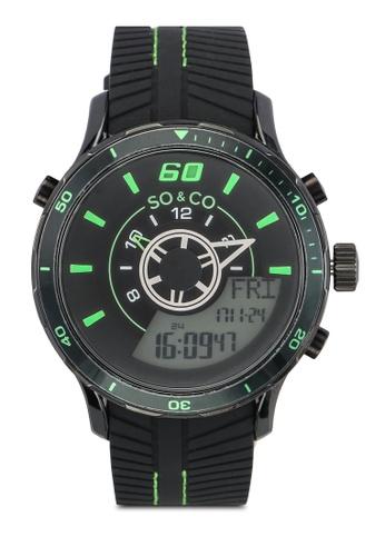 SO&CO black Monticello Watch 5035 SO540AC0SHM9MY_1