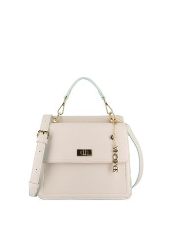 SEMBONIA beige Romance Summer Flap Top-Handle Satchel Bag D8050AC5C3A4F2GS_1