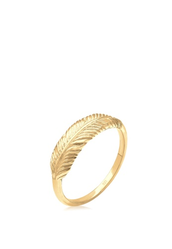 ELLI GERMANY gold Elli Germany Ring Feather Wing Boho Trend 925 Silver Gold Plated 05220AC7C36CDEGS_1