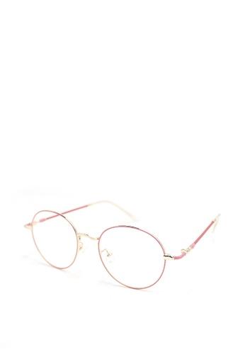 90dfeff01b Peculiar and Odd pink Round Eyeglasses 9007 Anti-radiation Replaceable  Lenses EA0C9GL1C8B492GS 1