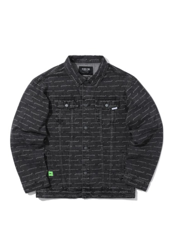 Fivecm black Logo print denim jacket DB51BAA1E78D7DGS_1