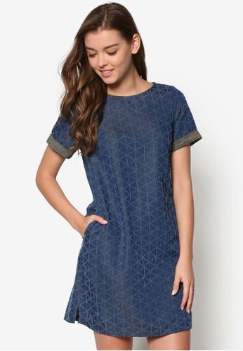 幾何印花短袖連身裙, 服飾esprit outlet 桃園, 短洋裝