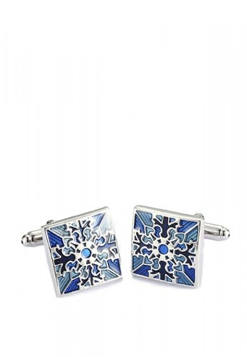 Kings Collection silver Polish Stainless Steel Cufflinks 1F9E0AC4DCB39BGS_1