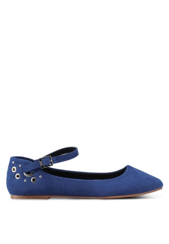 Nose blue Ankle-Strap Flats 0EAE3SHF44AE13GS_1