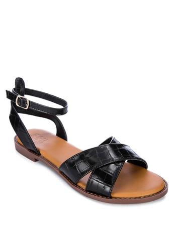 S&H black Dott Sandals A5DDCSH004A1B0GS_1