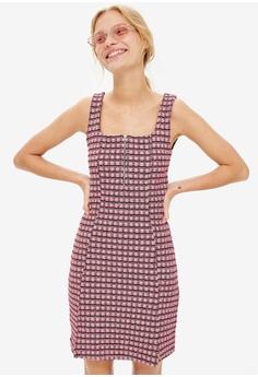 a0b3982c19ea TOPSHOP pink Petite Check Mini Pinafore Dress 31532AA06D5331GS 1