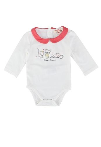 DU PAREIL AU MÊME (DPAM) white White Coral Cotton Baby Girl Bodysuit 1A714KA23CA021GS_1