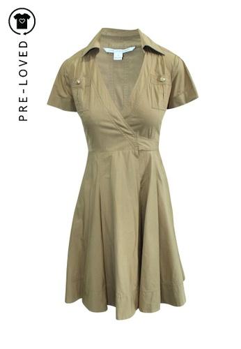 Diane Von Furstenberg beige Pre-Loved diane von furstenberg Wrapped Dress 11B05AA340F34EGS_1