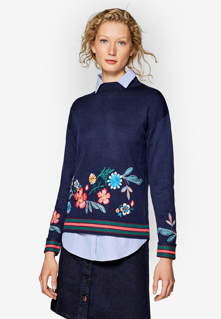 Long ESPRIT Sleeve ESPRIT Jumper Navy Jumper Navy Sleeve Long ESPRIT Long wqrCfwWFZ