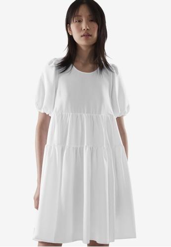 COS white Tiered Dress 3F1DDAA4423F94GS_1
