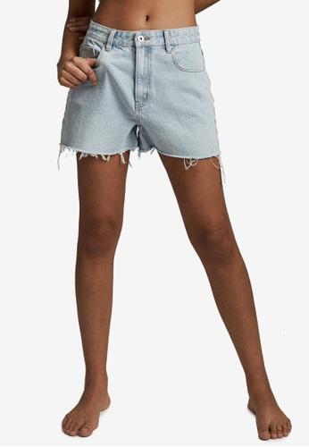 Cotton On blue High Mom Denim Shorts F5E3FAAAB430A9GS_1