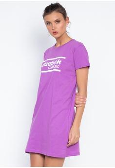9152ebe7098547 Reebok pink R Classic T-Shirt Dress FC52AAA7CDB909GS 1
