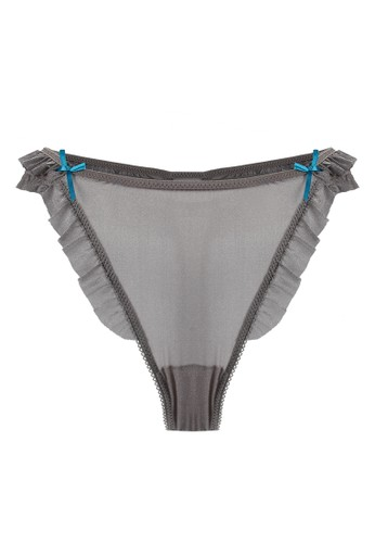 LAVABRA Intimates grey Very Sexy Panty - Dream Angels Super Comfy Modal Double Band Thong LA387US30SMVID_1
