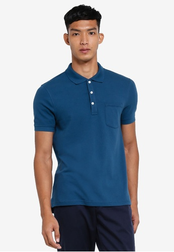 J.Crew blue Slim Stretch Pique Polo 692A7AAE722B29GS_1