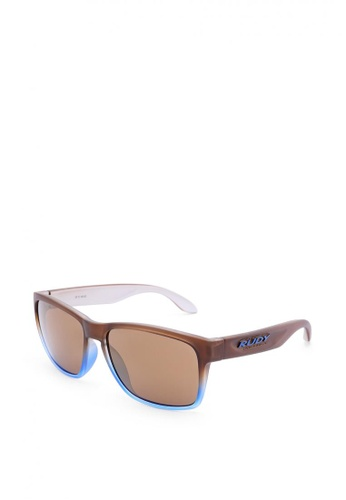 09fb3a6e5 Rudy Project brown Spinhawk Eyewear in Matte Ice with Laser Lenses SP314662  7573BGLEC84EA4GS_1