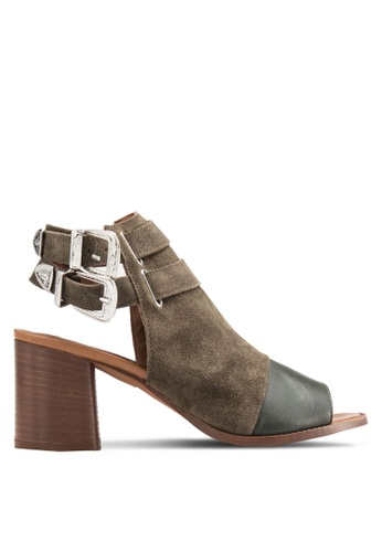 TOPSHOP green Nacho Western Heels TO412SH36IJFMY_1
