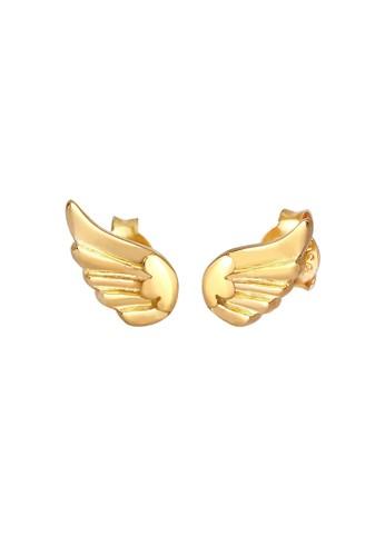Elli Jewelry Kids gold Perhiasan Anak Perak Asli - Silver Anting Ear Studs Wing Angel Symbol Lapis Emas 903A1AC4CE9664GS_1