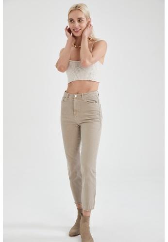 DeFacto brown High Waist Trousers 65C3BAA002985DGS_1