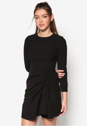 抓esprit 童裝褶腰飾長袖連身裙, 服飾, 洋裝