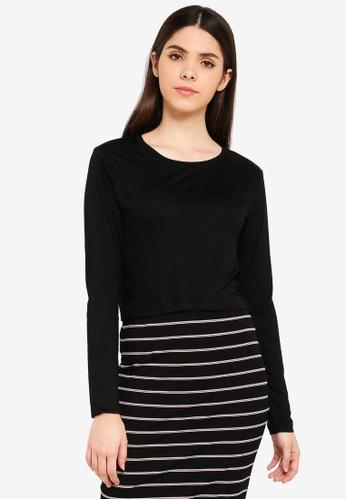 Cotton On black Baby Tee Long Sleeve Tee 3E985AA56818AFGS_1