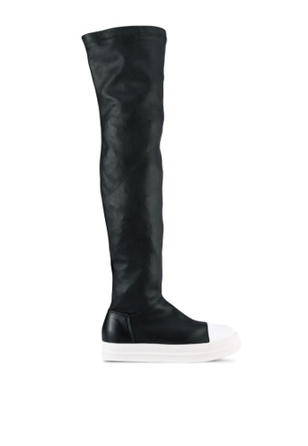Twenty Eight Shoes black Sporty Skinny Long Boots TW281SH0S0IFMY_1