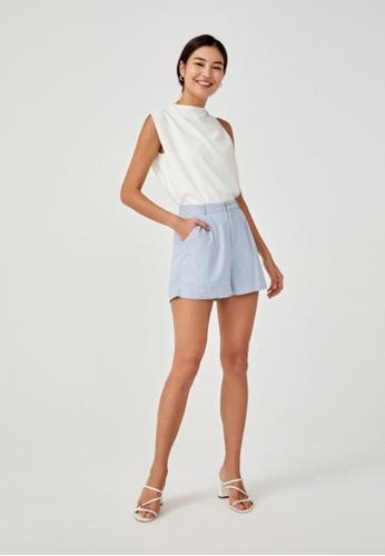 Love, Bonito blue Charli Linen Shorts 39610AAB815B02GS_1