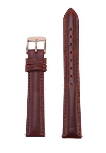 Klarf brown Petite Leather Strap CB235AC8DCA4A2GS_1