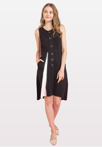 L'zzie black LZZIE ODEYA DRESS - BLACK C4E57AA65B0D0EGS_1