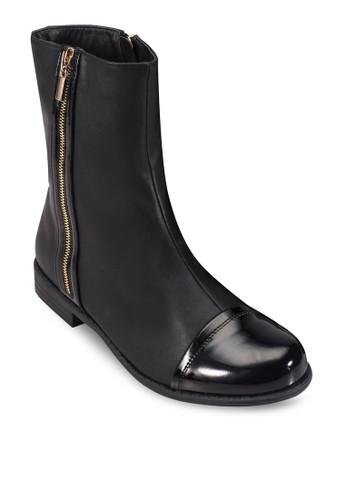 雙側拉鍊短靴, zalora 手錶 評價女鞋, 鞋