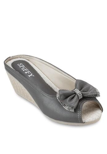 閃esprit 旺角飾蝴蝶結楔型鞋, 女鞋, 鞋