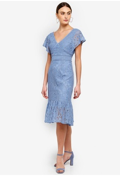 b4455c1cb9ddfb 30% OFF FORCAST Valerie V-Neck Lace Dress S  156.90 NOW S  109.90 Available  in several sizes