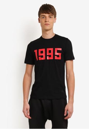 Flesh IMP black Since 1995 Printed T-shirt FL064AA0RNA2MY_1