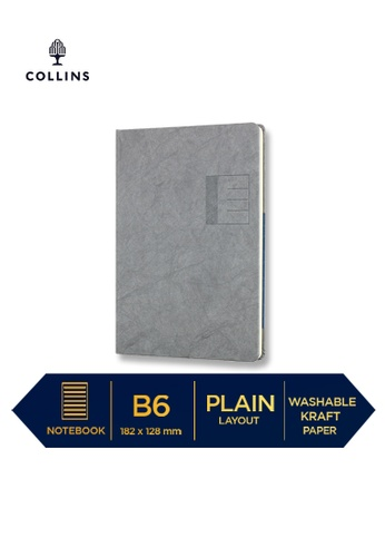Collins grey Collins Serendipity   ─  Notebook B6 Plain Grey F0FF5HLE6C2930GS_1