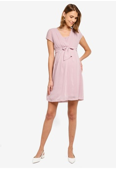 f3372c67375 Seraphine Jodie Cap Sleeve Chiffon Nursing Dress RM 379.00. Sizes 8 10 12  14 16