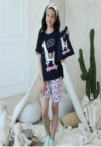 Boboo navy Piyama Anak Totally Fancy Llama SSSP20 6681EKA7B67705GS_1