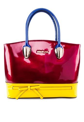 雙色漆皮esprit 工作手提包, 包, 飾品配件