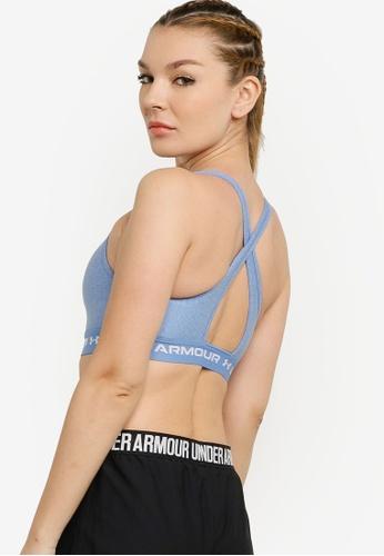 Under Armour blue Crossback Mid Heather Bra 7430EUS66504F6GS_1