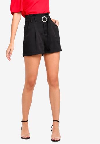 ZALORA black Flare Shorts AE8B4AABA0358AGS_1