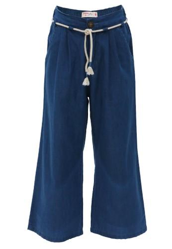 Osella Kids blue Osella Celana Anak Perempuan Kulot Blue EAC0DKAC5F56B3GS_1