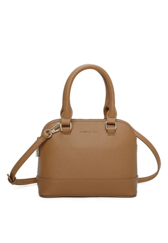 Milliot & Co. brown Andrea Top Handle Bag 4245CAC4B7C591GS_1