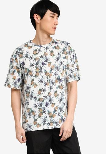 ZALORA BASICS multi Printed Oversized T-shirt 204D5AA2970383GS_1