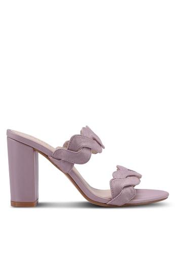 Velvet purple Chunky Heels E6F76SH1642462GS_1